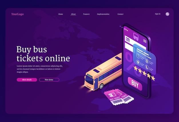 Serviço online para compra de passagens de ônibus Vetor grátis