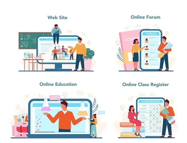 Serviço online para professores ou conjunto de plataformas