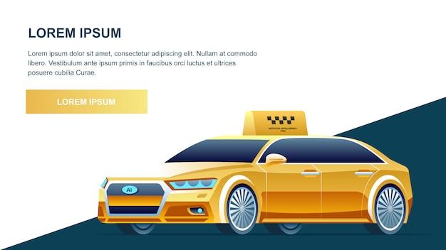 Serviço online taxi amarelo
