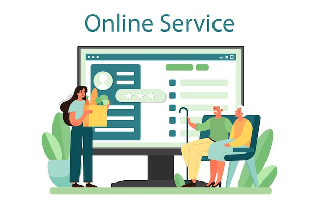 Serviço ou plataforma de voluntariado social online