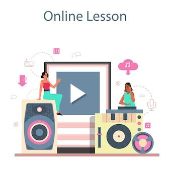 Serviço ou plataforma online conceito dj