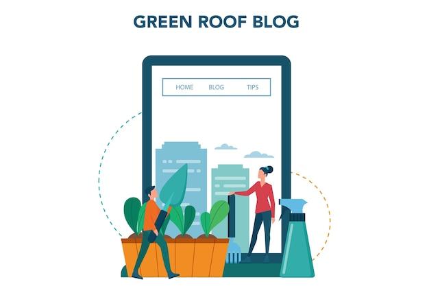 Serviço ou plataforma online de agricultura ou jardinagem urbana