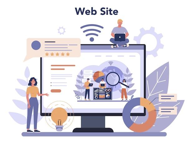 Serviço ou plataforma online de análise de site