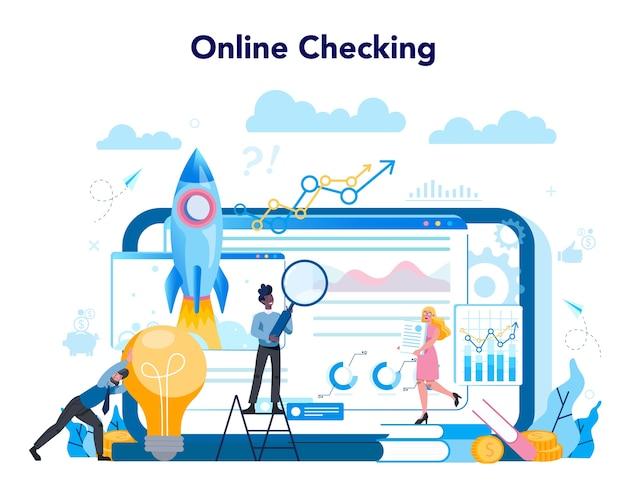Serviço ou plataforma online de analista de negócios