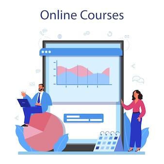 Serviço ou plataforma online de analista de site