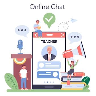 Serviço ou plataforma online de aula de retórica. treinamento de voz e aprimoramento da fala. técnicas de falar em público. bate-papo online com o professor.