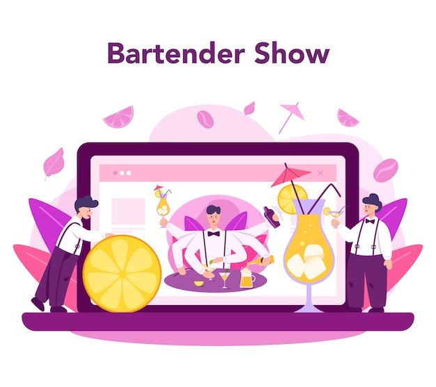 Serviço ou plataforma online de barkeeper
