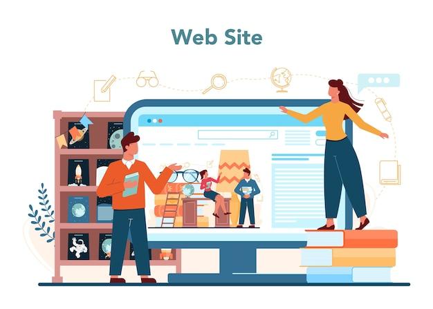 Serviço ou plataforma online de bibliotecário