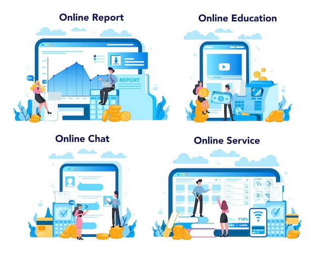 Serviço ou plataforma online de caixa