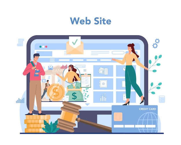 Serviço ou plataforma online de cobrador de dívidas