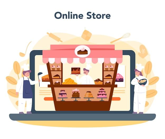 Serviço ou plataforma online de confeiteiro
