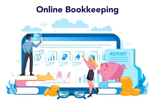 Serviço ou plataforma online de contador