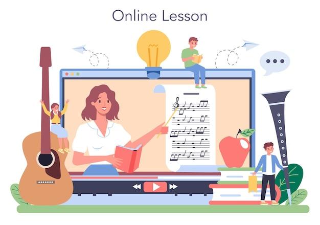 Serviço ou plataforma online de curso de educação musical