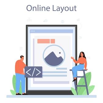 Serviço ou plataforma online de designer de layout