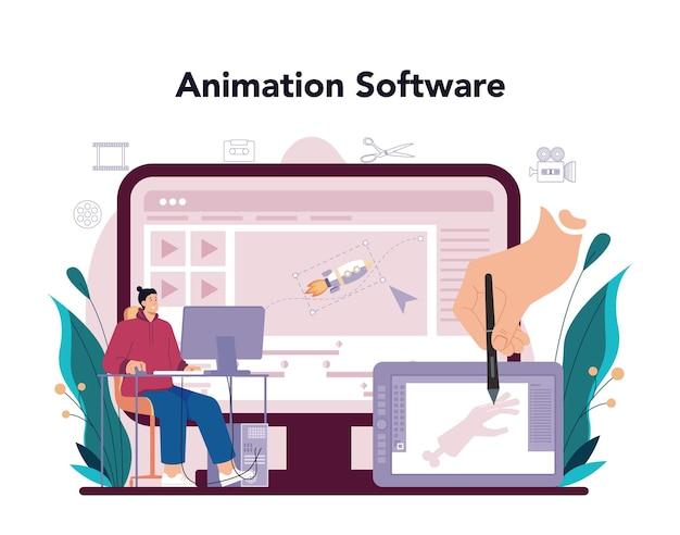 Serviço ou plataforma online de designer de movimento ou vídeo