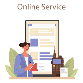 Serviço ou plataforma online de detetive profissional
