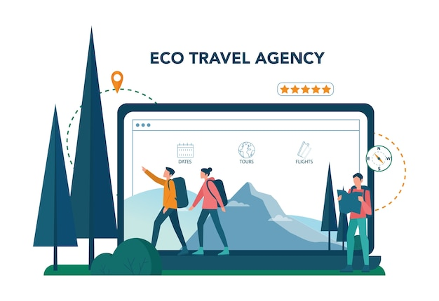 Serviço ou plataforma online de eco turismo e eco travelling