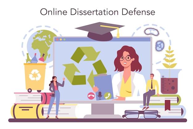 Serviço ou plataforma online de ecologista