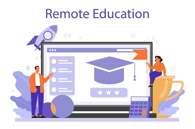 Serviço ou plataforma online de educação de gestão.