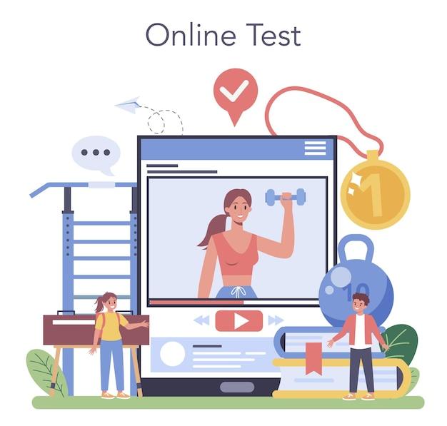 Serviço ou plataforma online de educação física ou esporte escolar