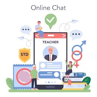 Serviço ou plataforma online de educação sexual.