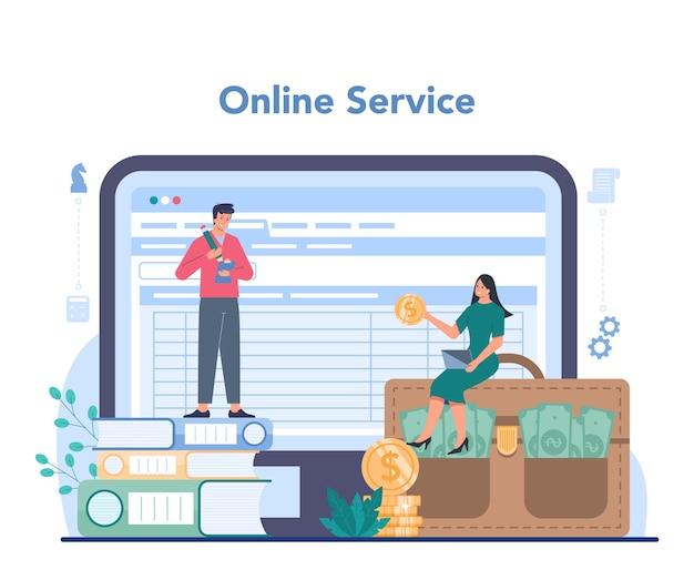 Serviço ou plataforma online de empreendedor