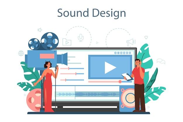 Serviço ou plataforma online de engenheiro de som