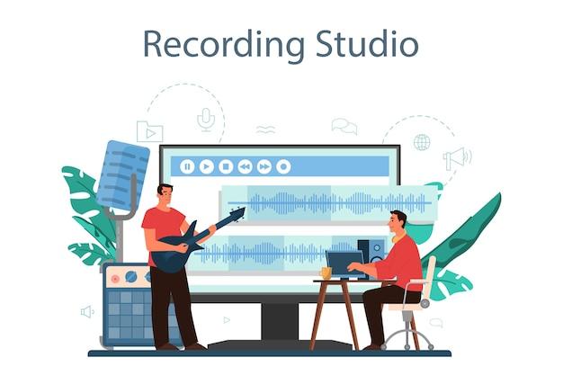 Serviço ou plataforma online de engenheiro de som.