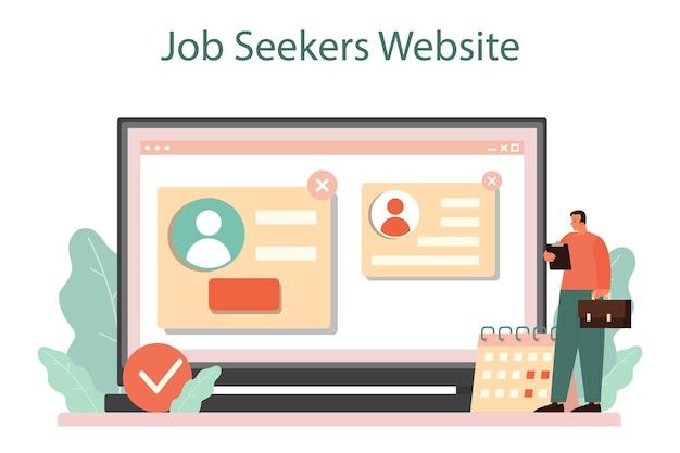 Serviço ou plataforma online de entrevista de emprego
