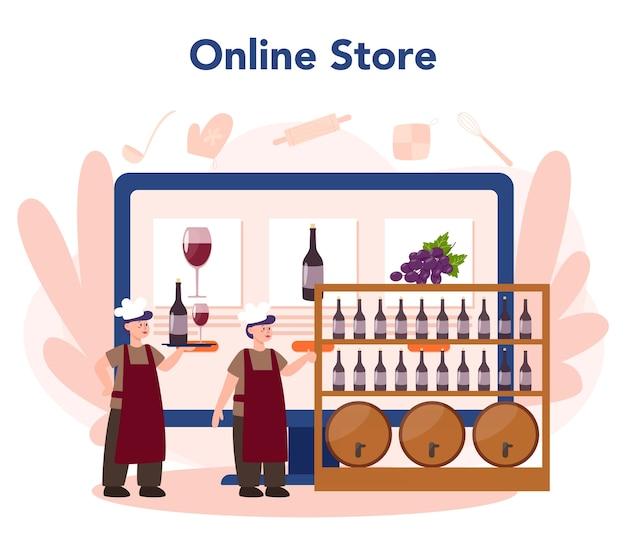 Serviço ou plataforma online de fabricante de vinhos