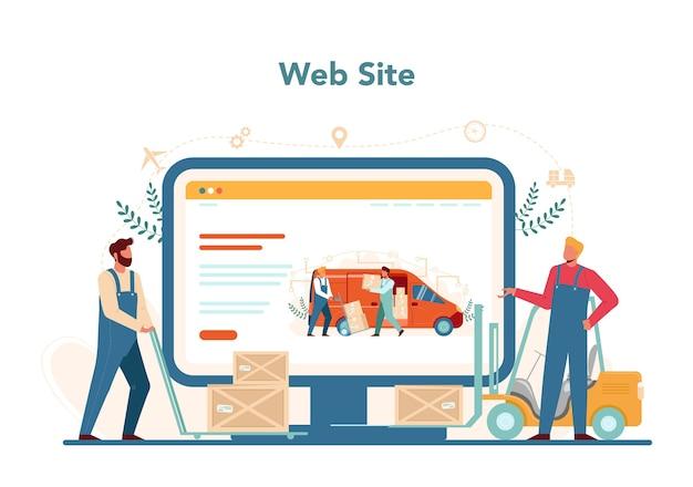 Serviço ou plataforma online de forwarder