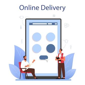 Serviço ou plataforma online de garçom
