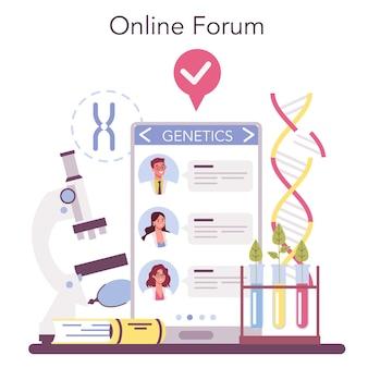 Serviço ou plataforma online de geneticista