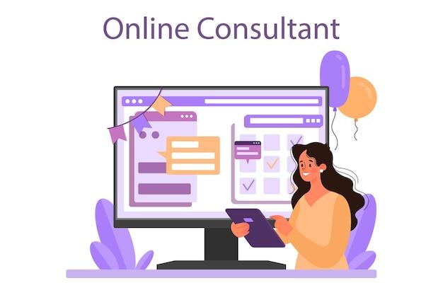 Serviço ou plataforma online de gerenciamento de eventos