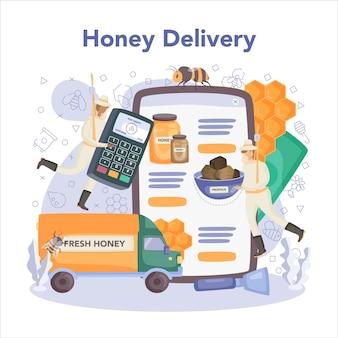 Serviço ou plataforma online de hiver ou apicultor