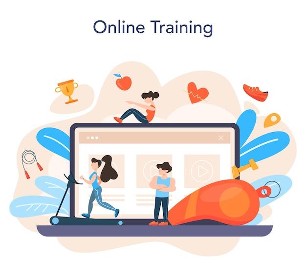 Serviço ou plataforma online de instrutor de fitness