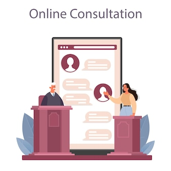 Serviço ou plataforma online de juiz
