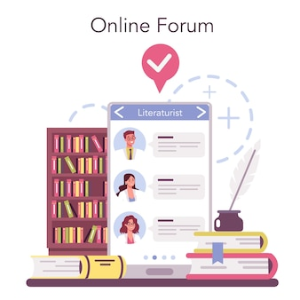 Serviço ou plataforma online de literaturista profissional