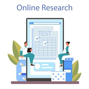 Serviço ou plataforma online de medicamentos