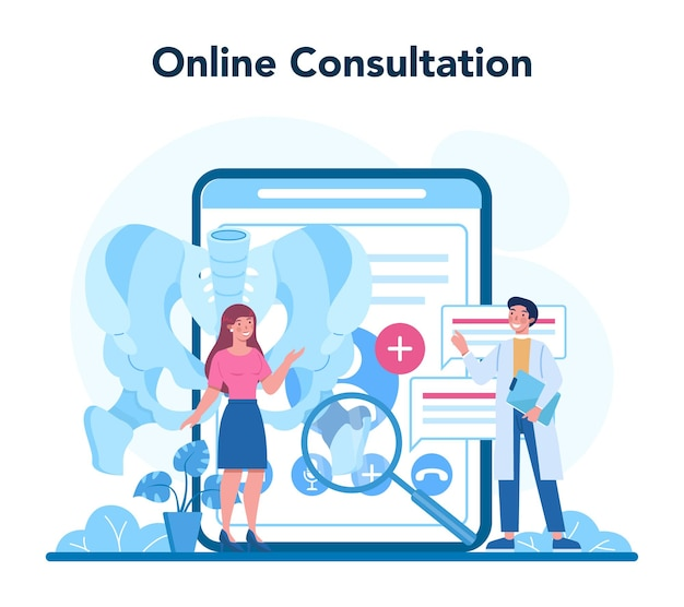 Serviço ou plataforma online de médico ortopedista