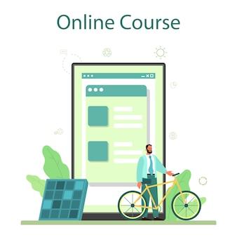Serviço ou plataforma online de negócios ecológicos