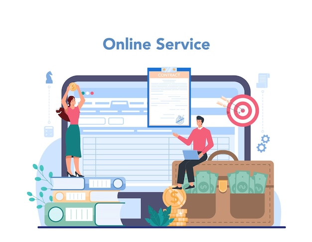 Serviço ou plataforma online de negócios
