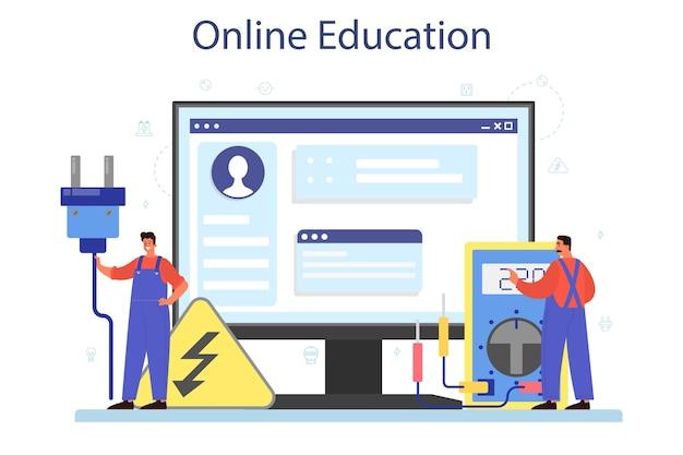 Serviço ou plataforma online de obras de eletricidade.