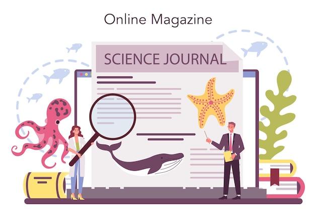 Serviço ou plataforma online de oceanologista