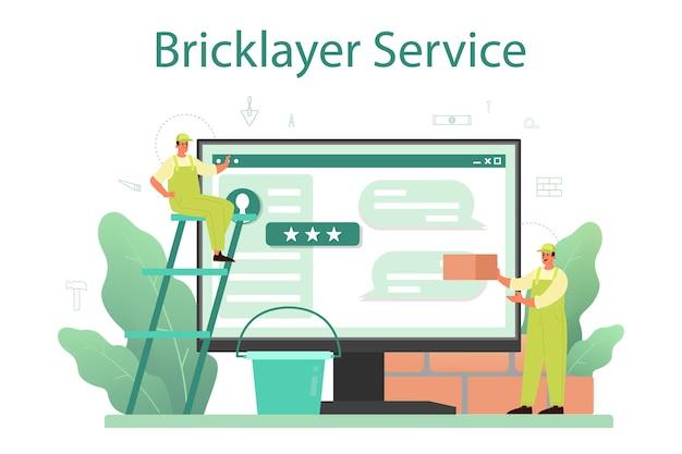 Serviço ou plataforma online de pedreiro