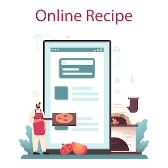 Serviço ou plataforma online de pizzaria