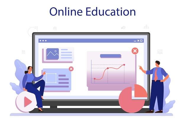 Serviço ou plataforma online de plano de negócios