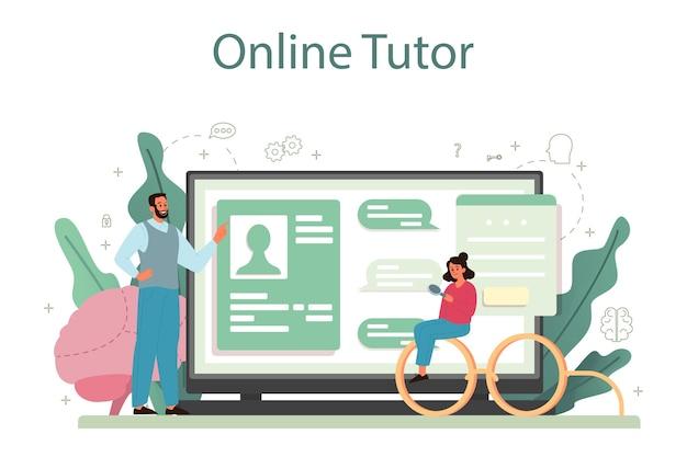Serviço ou plataforma online de psicologia