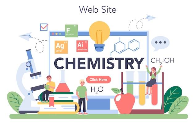 Serviço ou plataforma online de química
