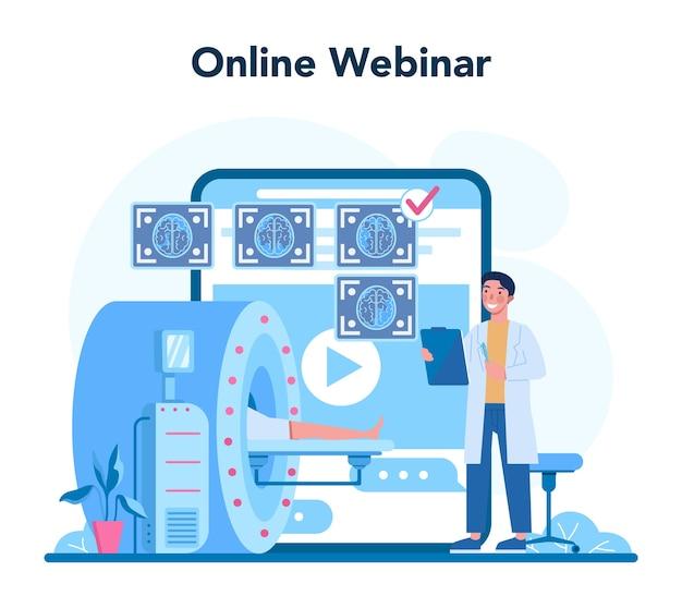 Serviço ou plataforma online de radiologista